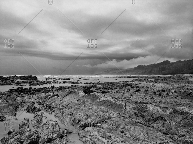 Landscape of rocky beach