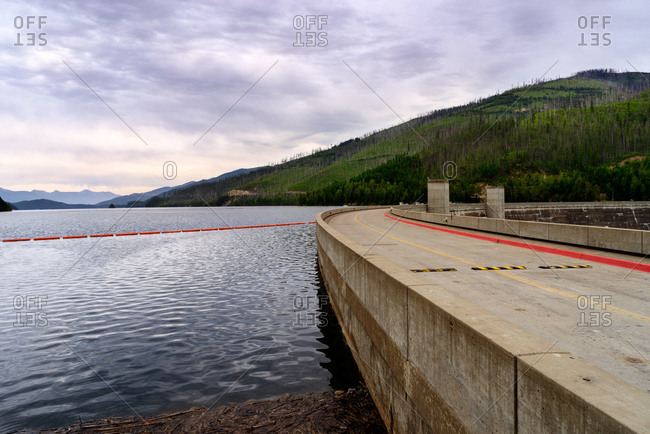 Top of Hungry Horse Dam in Montana