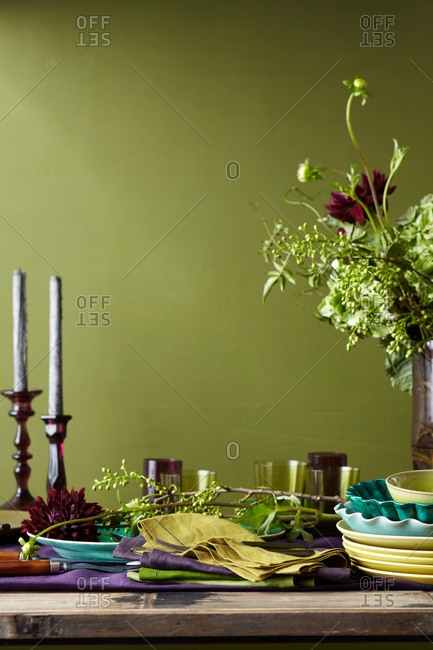 An elegantly set table