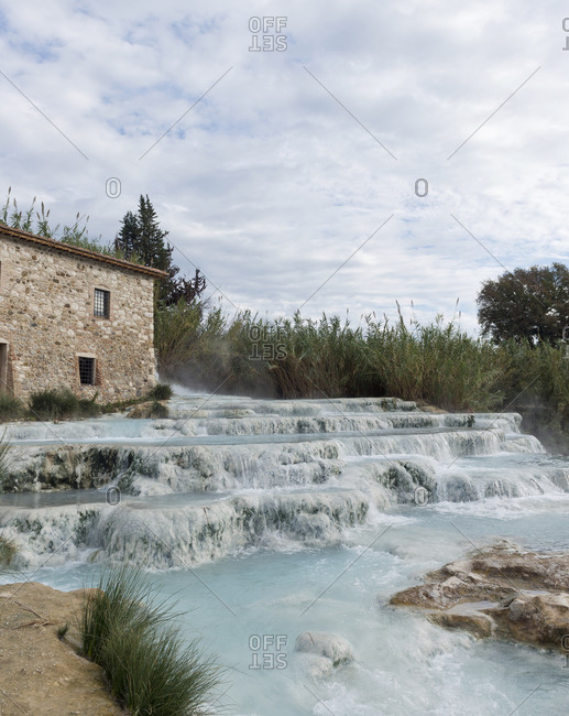 Cascate del Mulino, a thermal spring in Saturnia, Tuscany
