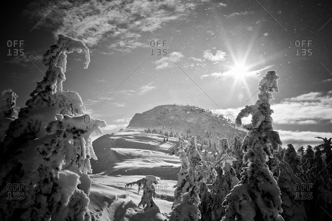 Winter landscape, British Columbia, Canada