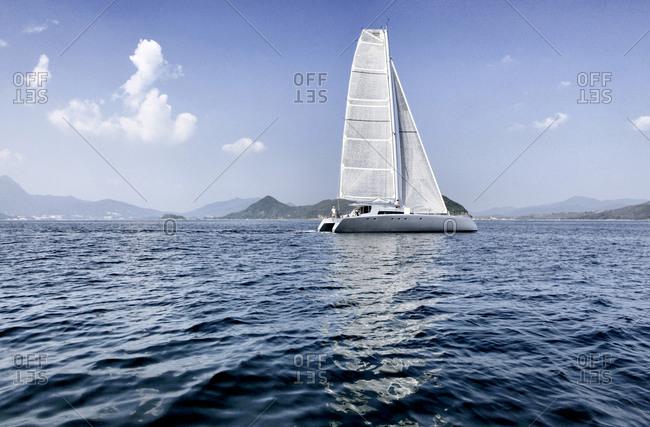 A luxury sailing boat, Hong Kong