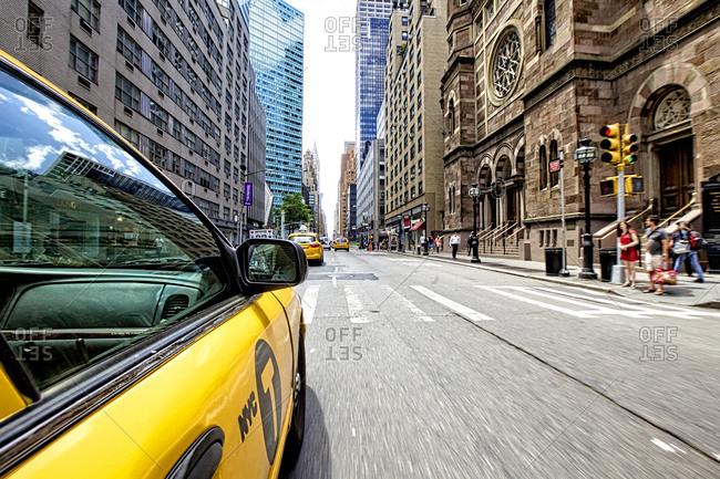 Yellow Cab, Manhattan, New York City, New York, United States of America
