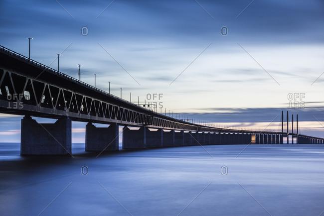 Bridge at dusk, low angle view