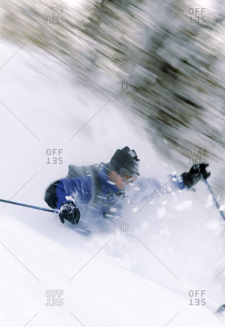 Man skiing from the Offset Collection