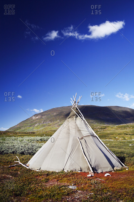 Traditional teepee in Lapland - Offset