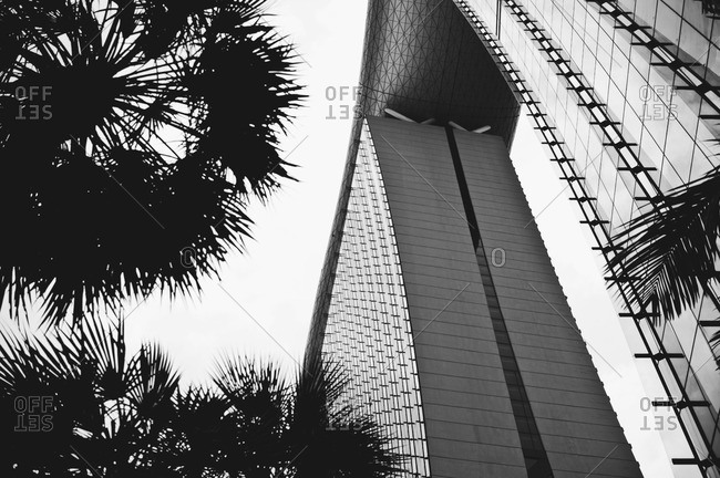 Low angle view of Marina Bay Sands in Singapore