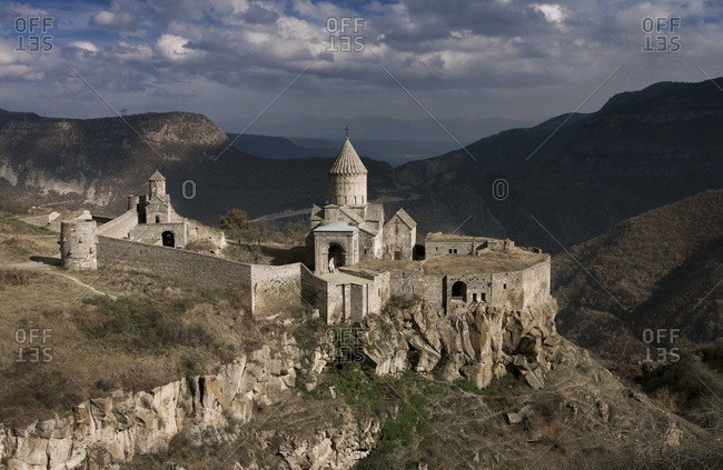 A monastery on a hillside