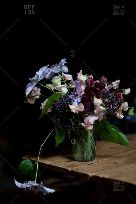 Bunch of flowers in vase