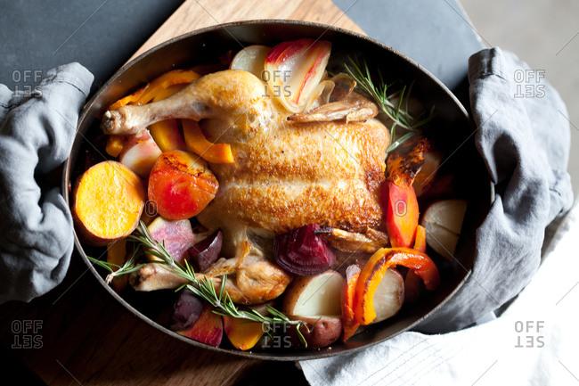 Fresh oven baked chicken