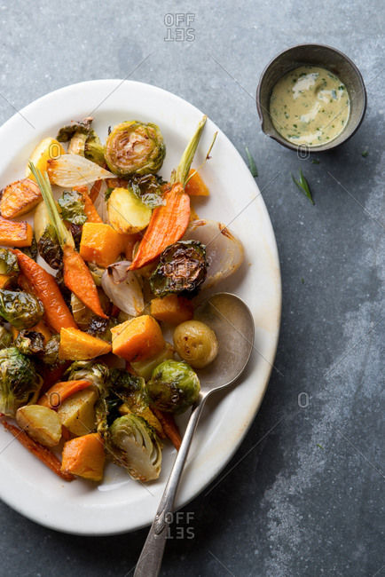 Roasted Vegetables with Tarragon Vinaigrette