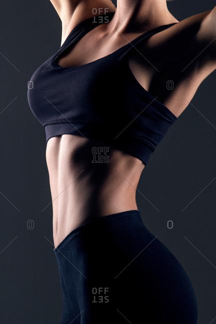 Woman modeling athletic underwear