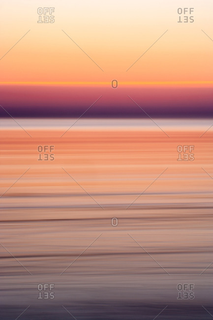 Purple sunset over ocean