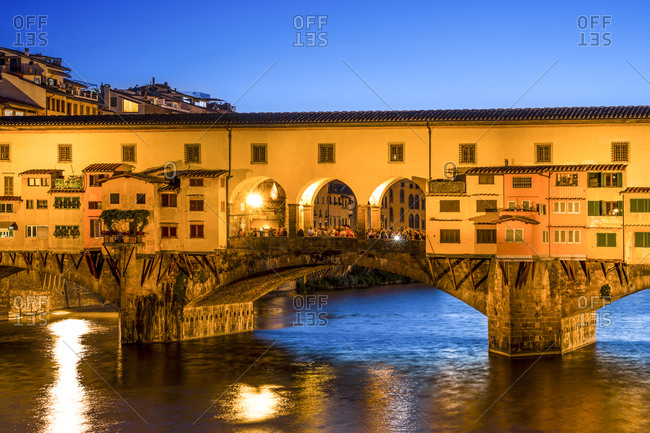 Ponte Vecchio, Blue hour - Offset