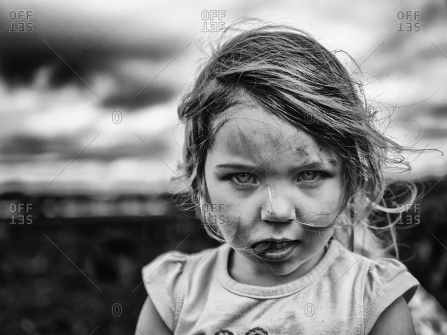 Portrait of a young girl in Galway, Ireland