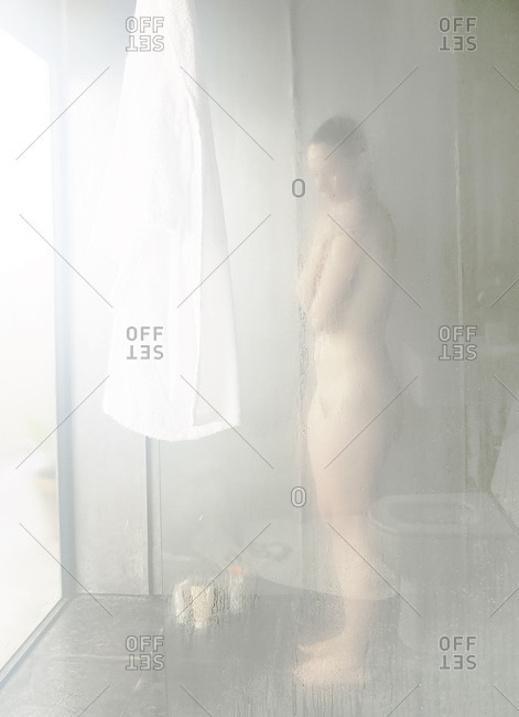Pictures of women taking a shower