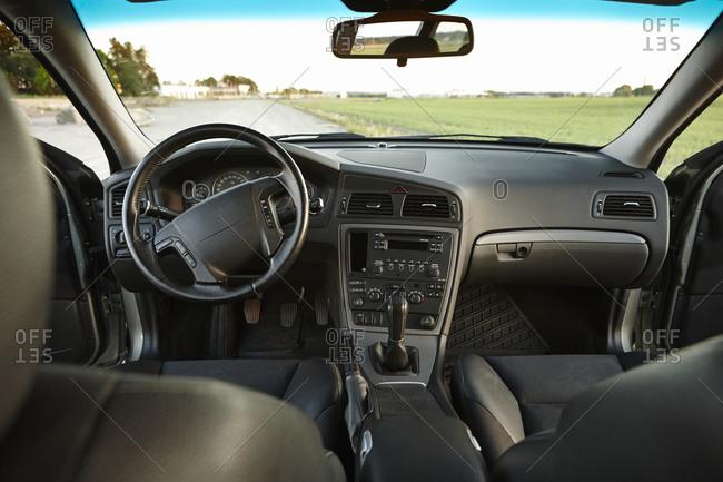 View of car interior