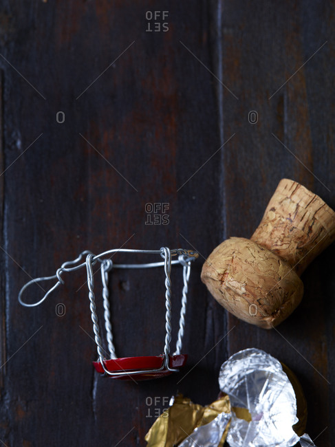 Champagne cork and wire