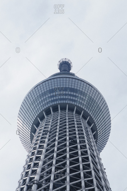 September 11, 2014 - Tokyo, Japan: Low angle view of Tokyo Skytree against sky
