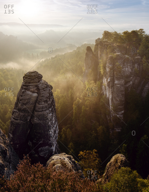 Saxony Swiss Bastei Autumn Colors