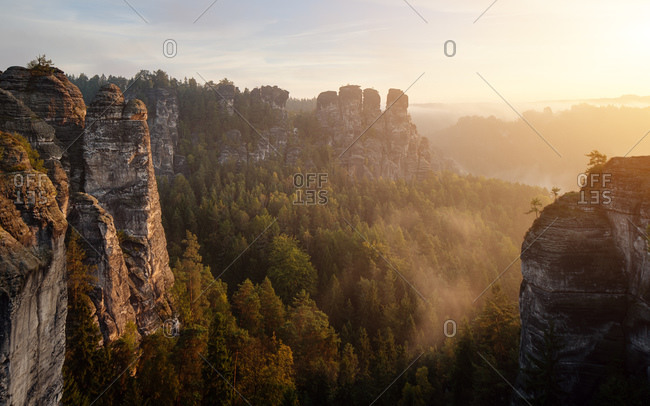 Saxony Swiss Bastei Autumn Light