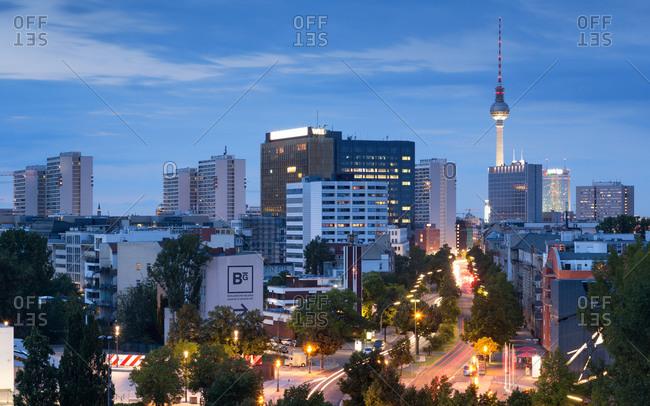 Berlin cityscape with Fernsehturm