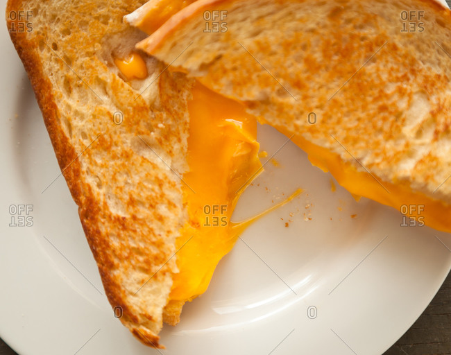 Close up of a grilled cheese sandwich