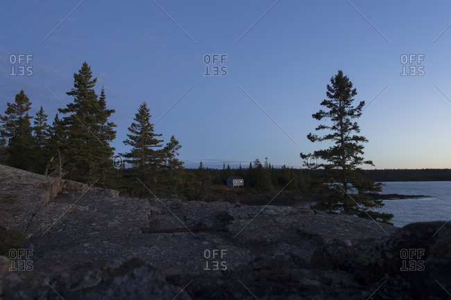 A solitary house in Isle Royale National Park