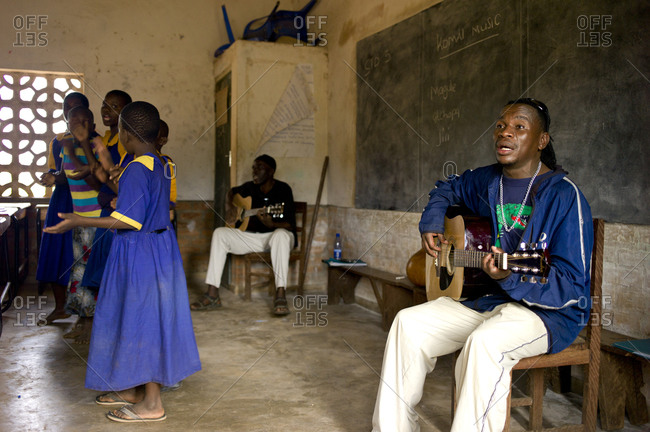 Luchenza, Malawi - April 23, 2014: Students attend the after school music program