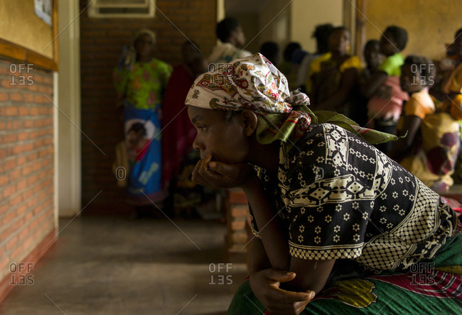 Luchenza, Malawi - April 25, 2013: HIV infected patient waiting for treatment at Mangunda Health Center