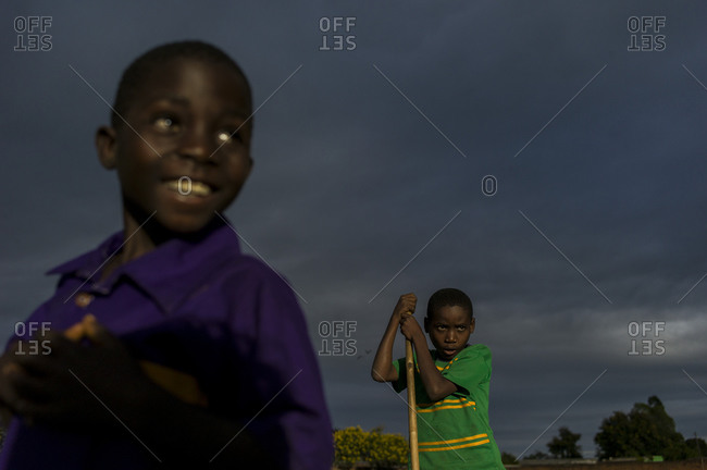 Luchenza, Malawi - April 27, 2013: Locals attend a free benefit show put on by Komai and Fochta featuring LA band Islands and Malawi's very own Ben Michaels