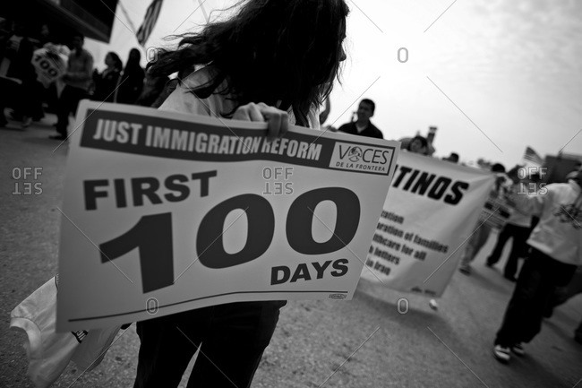 Milwaukee, Wisconsin - May 1, 2008: A day with out Latinos march
