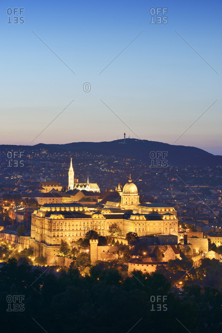 Budapest, Hungary - October 28, 2014: View to Buda Castle and Matthias Church