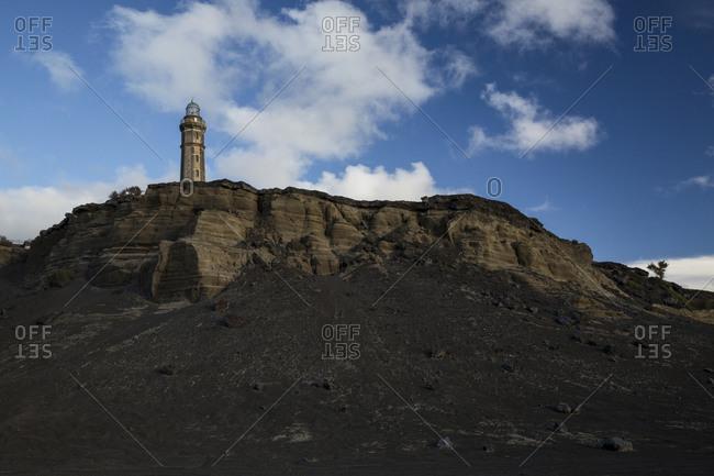 Capelinhos volcano lighthouse, Faial, Azores, Portugal