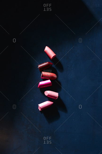 Lipstick on dark background
