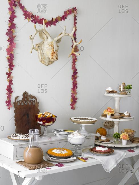 A dessert buffet filled with seasonal treats
