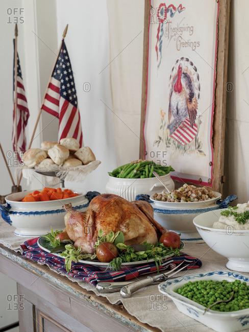 A Thanksgiving buffet
