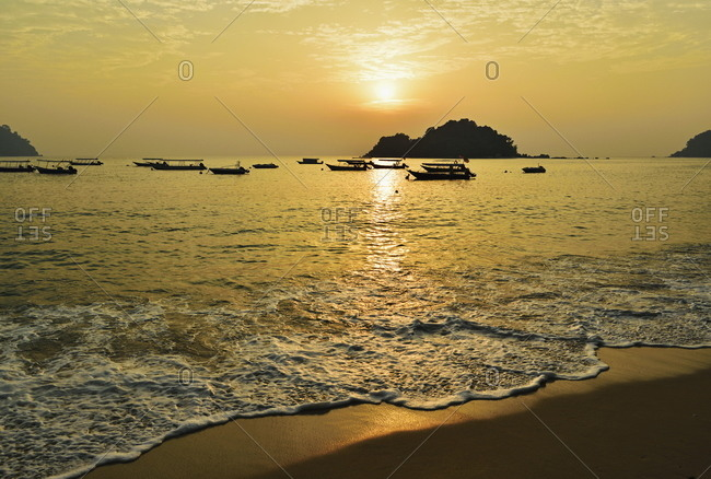 Sunset at Nipah Bay and Coral Island