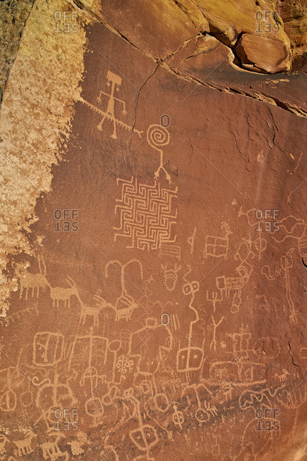Petroglyphs in the Vermilion Cliffs National Monument