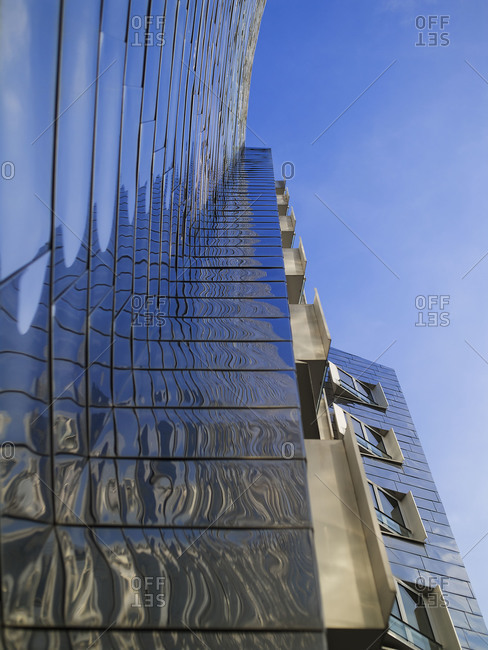 Dusseldorf, Germany - October 23, 2008: Looking up at the Neuer Zollhof