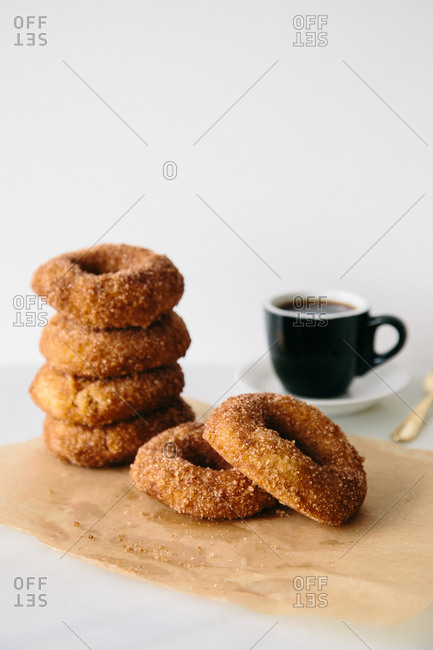 A stack of donuts and donuts