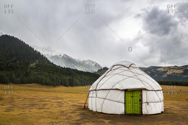 Yurt with Green Door in the Karakol Valley, Karakol
