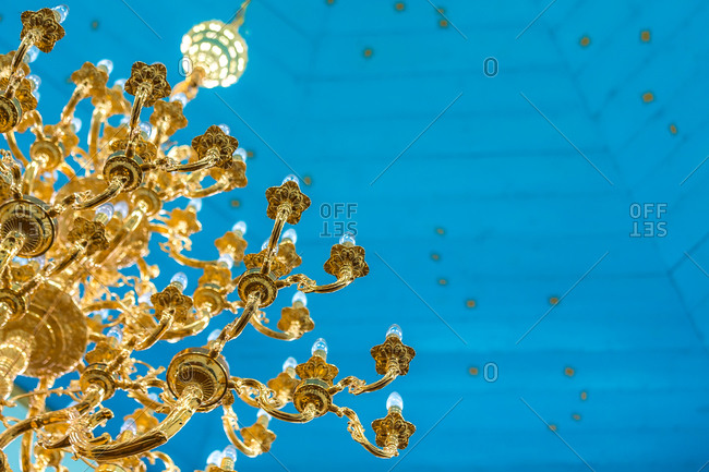 Chandelier and Roof of the Holy Trinity Russian Orthodox Cathedral, Karakol