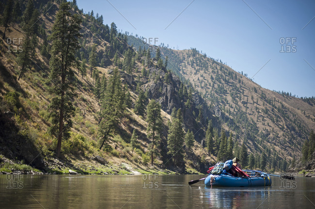 Rafter on Salmon River