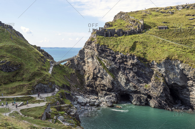 Bridge to Tintagel Castle, Cornwall