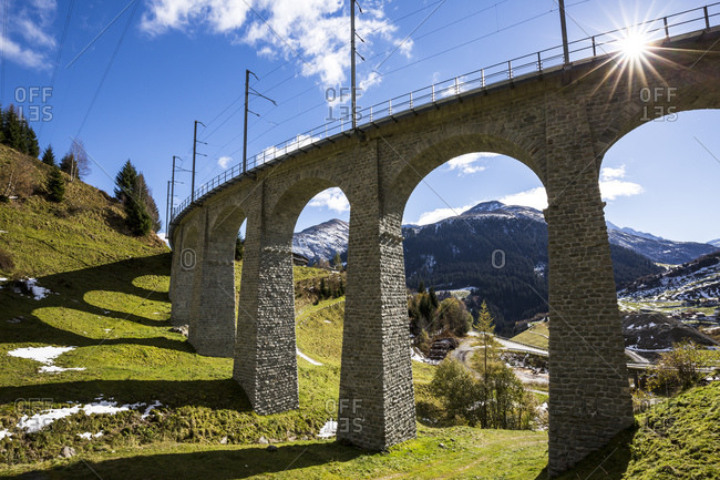 Railway bridge near Sedrun, Grisons