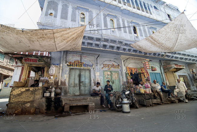 Jodhpur, India - March 7, 2014: Street scene