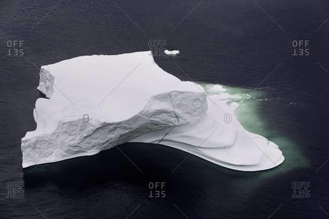 Overhead of North Atlantic iceberg
