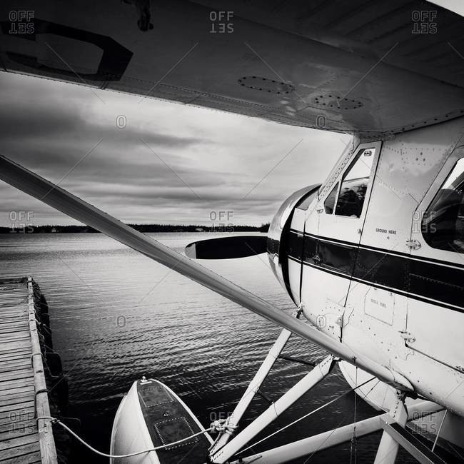 Seaplane about to take off
