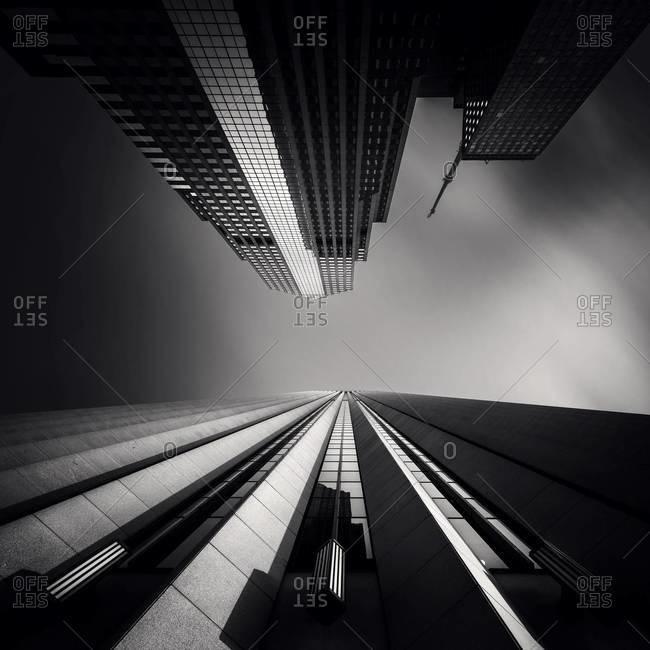 Chicago skyscrapers from below